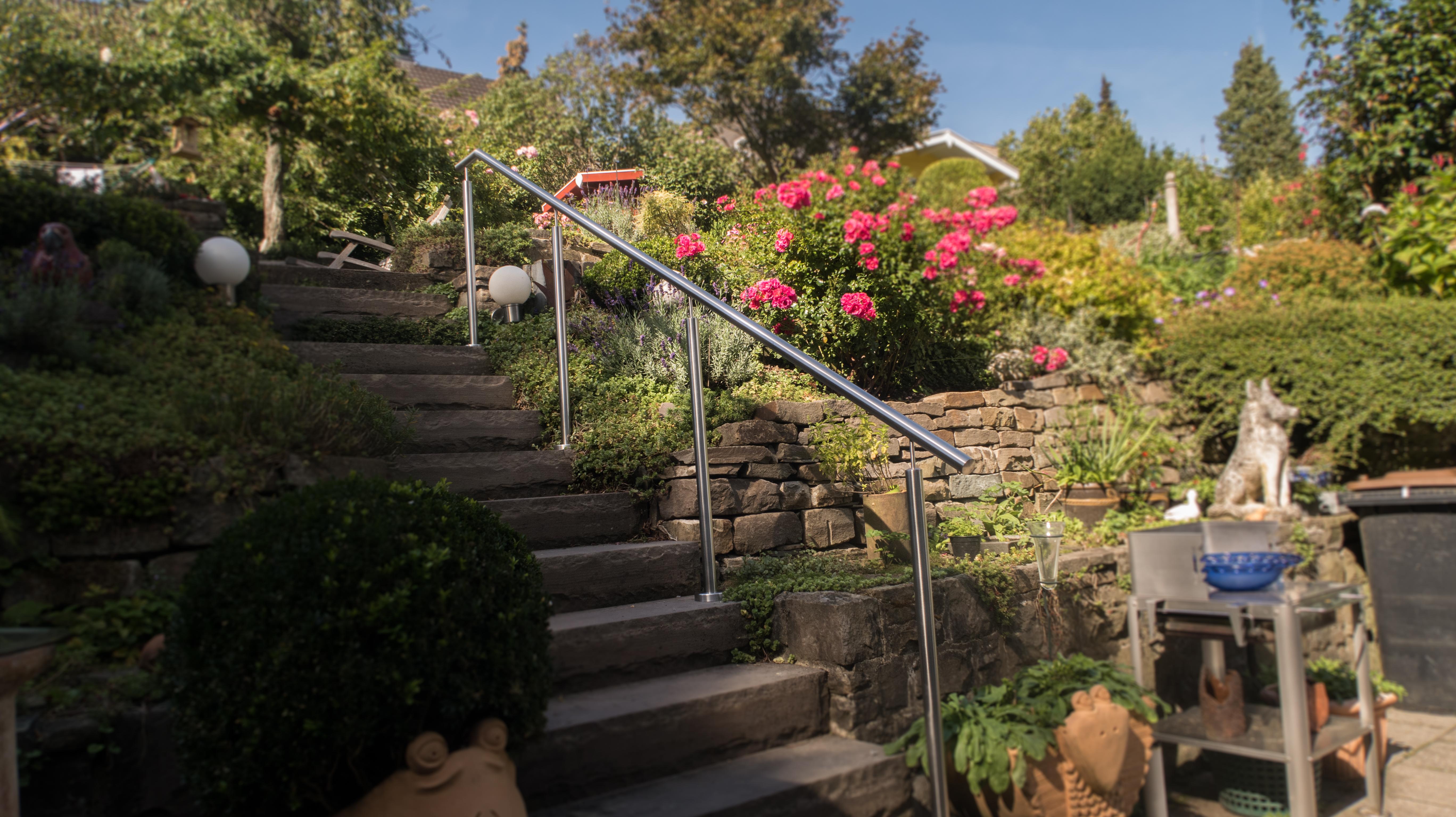 Handlauf Gartentreppe