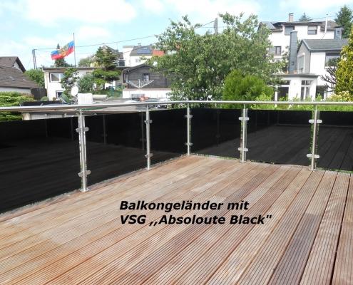 Balkongeländer Absolut Black