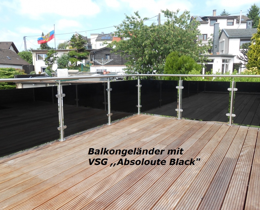 Balkongeländer Absolut Black