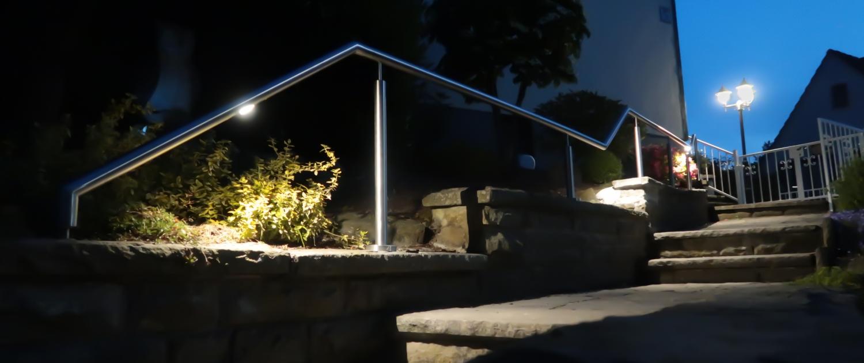 Handlauf mit beleuchtung
