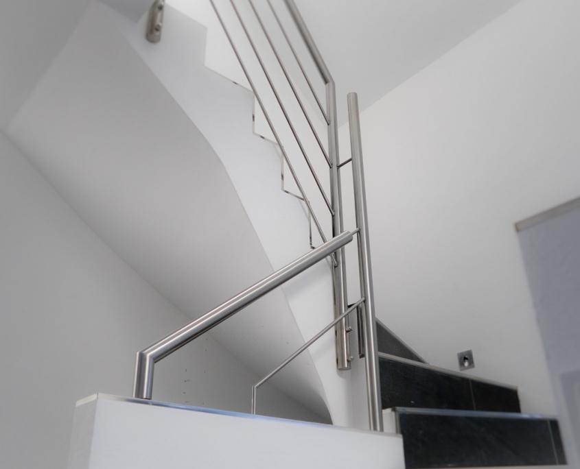 Edelstahl handlauf für innentreppe modern