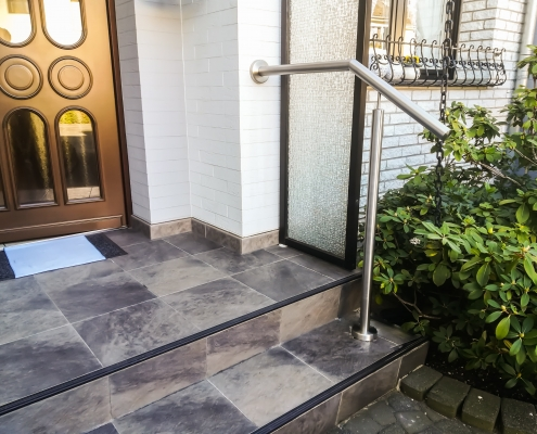 Treppenhandlauf Edelstahl Hauseingang
